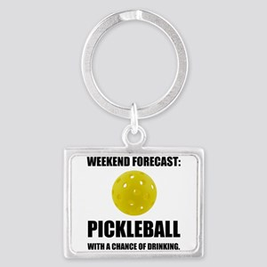 Weekend Forecast Pickleball Drinking Keychains
