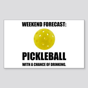 Weekend Forecast Pickleball Drinking Sticker