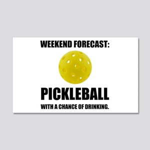Weekend Forecast Pickleball Drinking Wall Decal