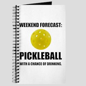 Weekend Forecast Pickleball Drinking Journal