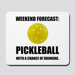 Weekend Forecast Pickleball Drinking Mousepad