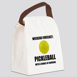 Weekend Forecast Pickleball Drinking Canvas Lunch