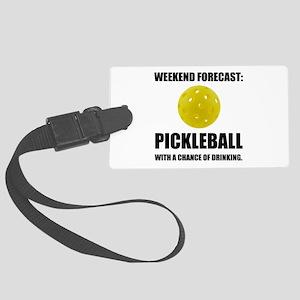 Weekend Forecast Pickleball Drinking Luggage Tag