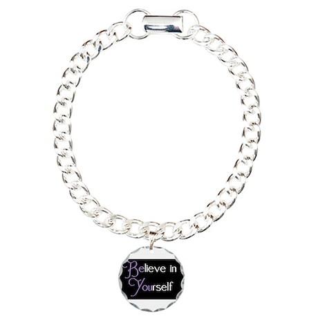 Believe in Yourself Charm Bracelet, One Charm