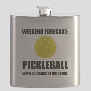 Weekend Forecast Pickleball Drinking Flask