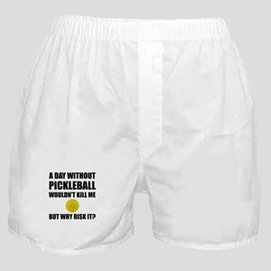 Why Risk It Pickleball Boxer Shorts