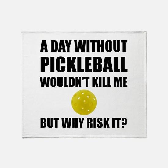 Why Risk It Pickleball Throw Blanket