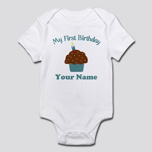 1stbdayboycup Infant Bodysuit
