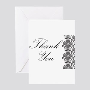BW Thank You Card Greeting Card