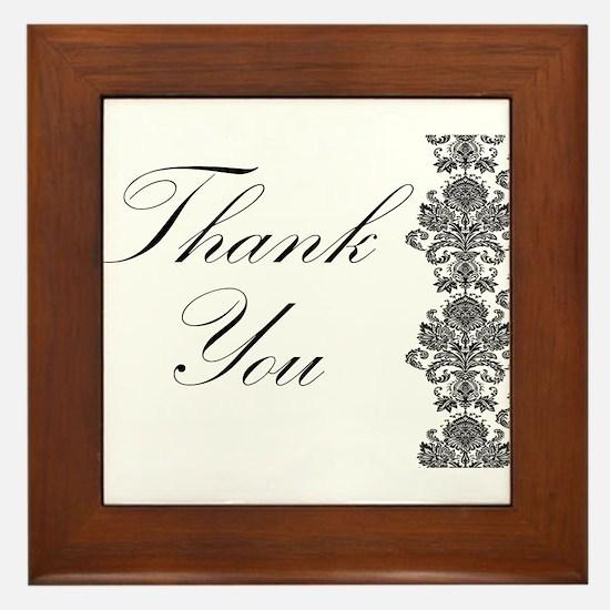 BW Thank You Card.png Framed Tile