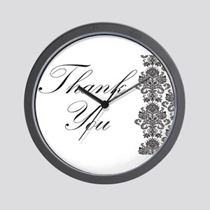 BW Thank You Card.png Wall Clock