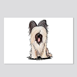 Sitting Briard Postcards (Package of 8)