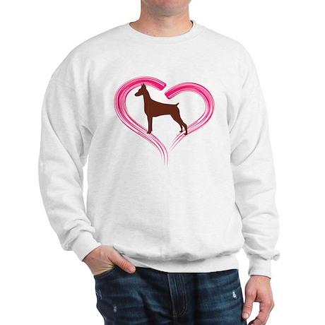 Heart My Red Doberman Sweatshirt