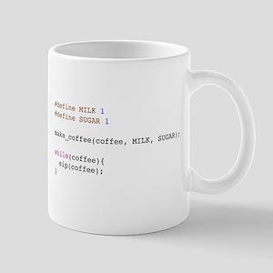Coder's Coffee Mug - white with sugar