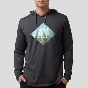 Delta Upsilon Mountains Diamonds Blue Mens Hooded