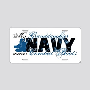 Granddaughter Combat Boots - NAVY Aluminum License