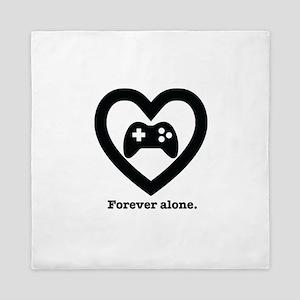 Forever Alone Gamer. Queen Duvet