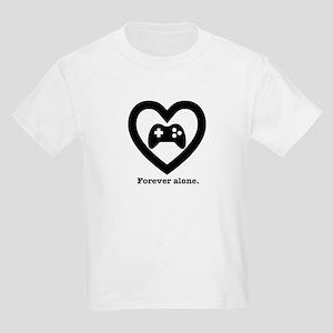 Forever Alone Gamer. Kids Light T-Shirt