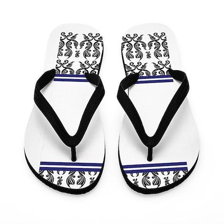 Monogram Damask Invite.jpg Flip Flops