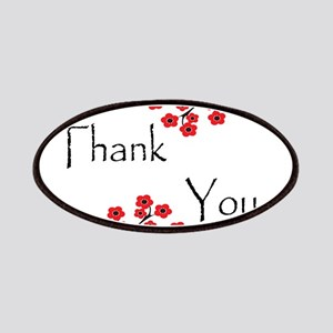 Red Cherry Blossoms Thank You Patches