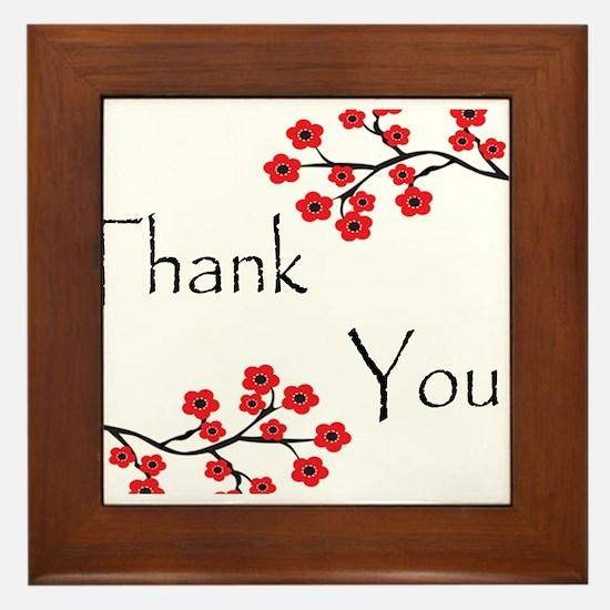 Red Cherry Blossoms Thank You.jpg Framed Tile