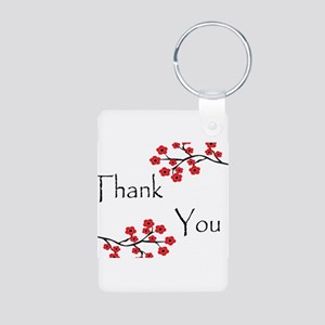 Red Cherry Blossoms Thank You Aluminum Photo K