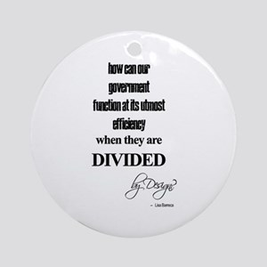 Divided by Design Ornament (Round)