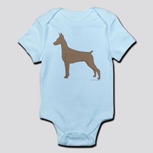 Fawn Doberman Silhouette Infant Bodysuit