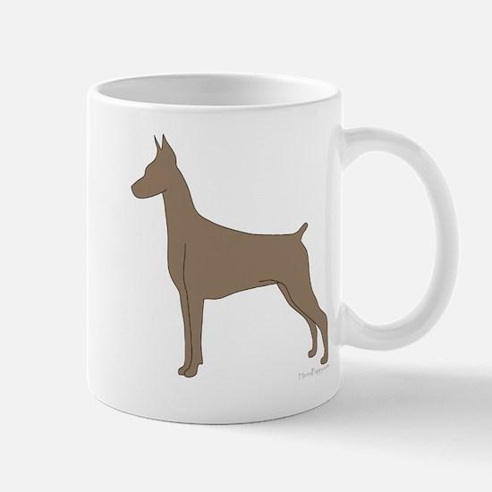 Fawn Doberman Silhouette Mug