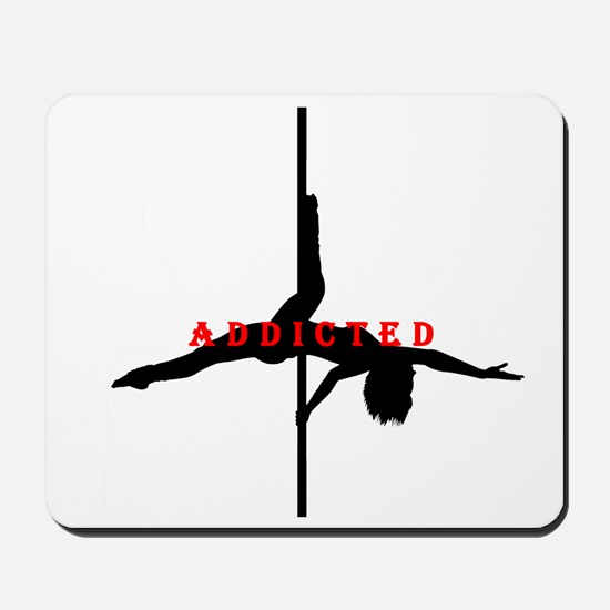 Addicted Black/Red Mousepad