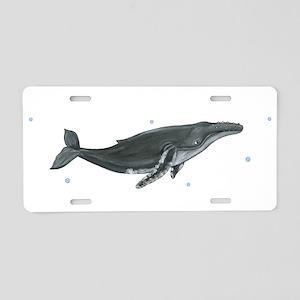 Humpback Whale Aluminum License Plate