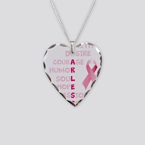 FEARLESS Necklace Heart Charm