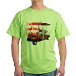 Golfing in Hell Green T-Shirt