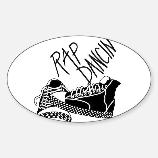 Rap Dancing Sticker (Oval)