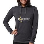 Women's Full Logo Hooded Shirt Long Sleeve T-S