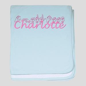 Charlotte-pink baby blanket