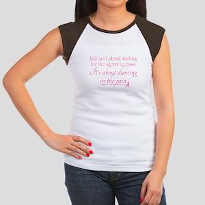 Dancing in the Rain Women's Cap Sleeve T-Shirt