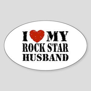 Rock Star Husband Sticker (Oval)