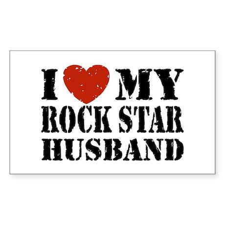 Rock Star Husband Sticker (Rectangle)