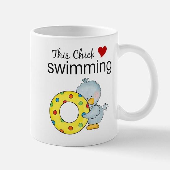 This Chick Loves Swimming Mug
