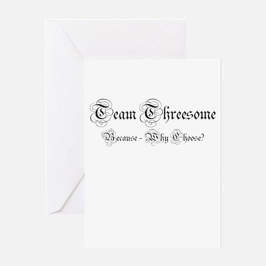 Team Threesome Greeting Card