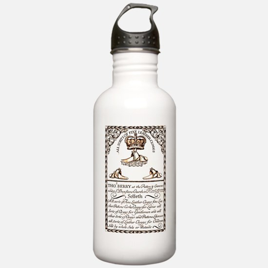 18th Century Shoe Ad Water Bottle