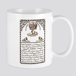 18th Century Shoe Ad Mug