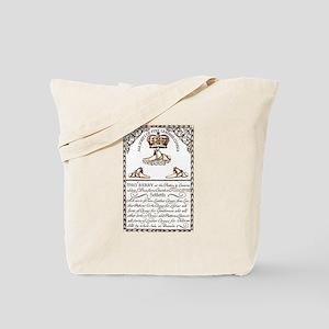 18th Century Shoe Ad Tote Bag