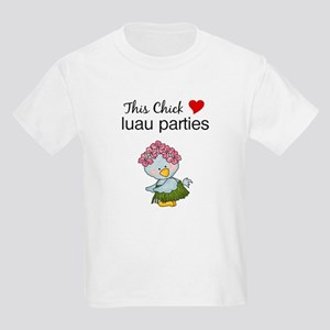 This Chick Loves Luau Parties Girls Shirt