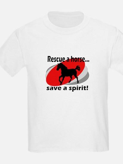 Rescue a Horse, Save a Spirit Kids T-Shirt