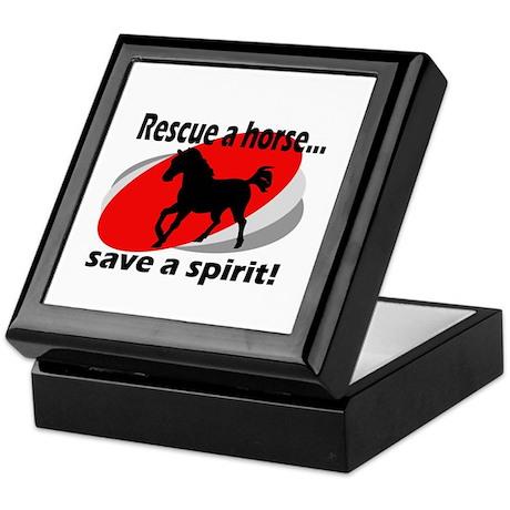 Rescue a Horse, Save a Spirit Keepsake Box