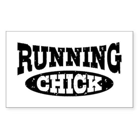 Running Chick Sticker (Rectangle)