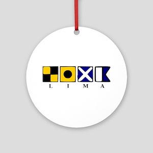 Nautical Lima Ornament (Round)