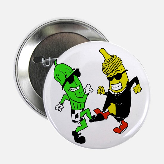 "Mustard Pickle 2.25"" Button"
